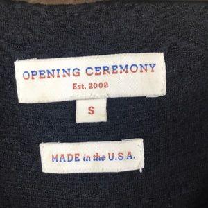 Opening Ceremony Dresses - Opening ceremony Black cutout neckline Mini Dress
